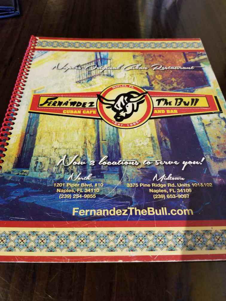 Fernandez the Bull Cuban Cafe 1201 Piper Blvd Image